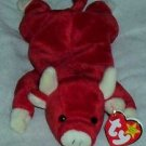 Snort the Red Bull Ty  Beanie Babies Collectible