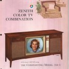Vintage 1965 Zenith Color TV advertisement Model 7100WU