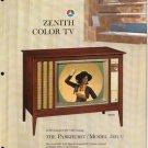 Vintage 1965 Zenith Color TV advertisement Model 5231WU