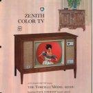 Vintage 1965 Zenith Color TV advertisement Model 6251HU