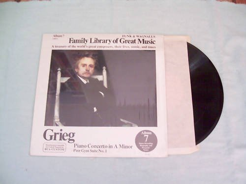 Grieg Family library of Great Music Record Album LP 33
