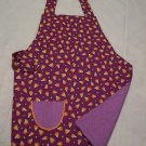 Candy Corn Child's Apron with Embroidered Pocket