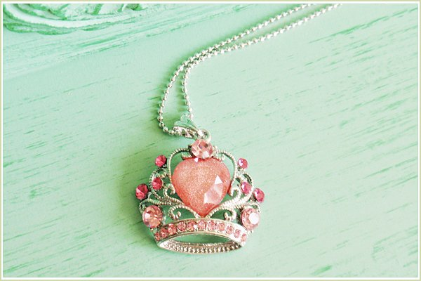Crown Necklace - Pink