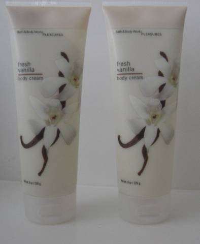 Bath & Body Works FRESH VANILLA BODY CREAM X 2 NEW!