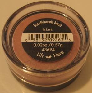 Bare Escentuals Minerals BLUSH in HINT Facial Glow!