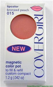 2 PK Covergirl Magnetic Color Pot Lipcolor Bronzed Peach - 015