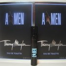 2 Angel by Thierry Mugler for Men EDT Spray Rubber Flask 0.05 oz