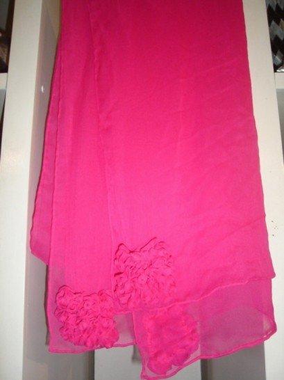 Pink chiffon scarf