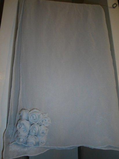 Grey chiffon scarf