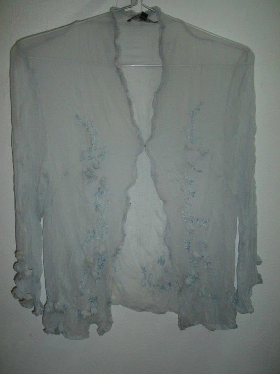 Grey chiffon blouse