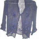 Navy chiffon blouse
