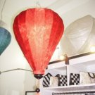 Pattern silk lantern in red