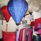Blue pattern silk lantern