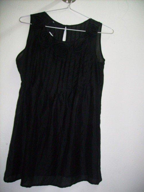 Silk shirt in black color