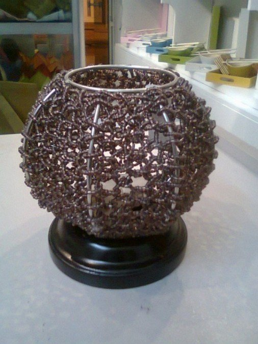 Beaded candle - shade