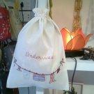 Lingerie bag in cotton