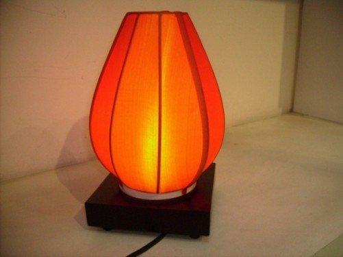 Orange silk lamp