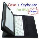 NEW LEATHER CASE COVER w/ WHITE KEYBOARD for APPLE iPAD
