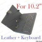 "Leather Case + USB keyboard For 10.2"" aPad ePad ZT-180"