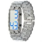 Exquisite Lava Blue LED Display Watch For Man