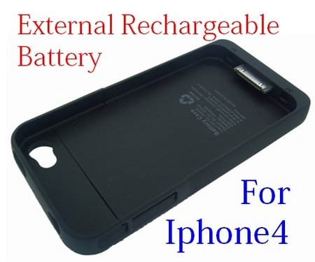 Rechargeable External Backup Battery Case for iPhone 4 4G