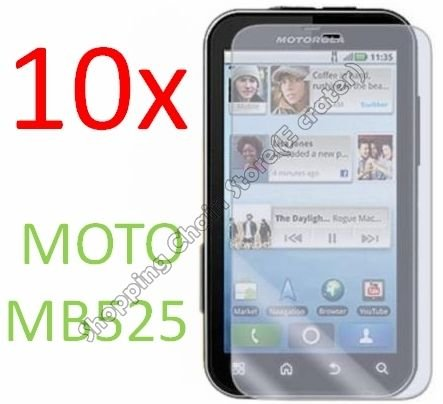 10pcs  Clear Screen Protector Cover Film for Motorola Defy MB525