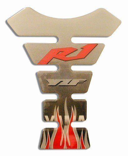 R1 SILVER & RED TANK PAD
