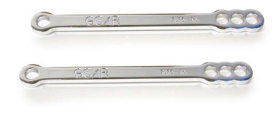 SUZUKI GSXR600 01-05 750 00-04, 1000 01-04 - CHROME LOWERING LINKS (PART # CA2798LRC)