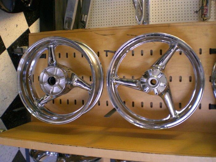 99-06 CBR 600 F4I CHROME RIMS