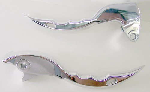 SUZUKI M109 POLISHED KNIFE STYLE BRAKE & CLUTCH LEVER SETPART # A3226/A3227)