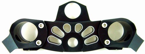 KAWASAKI ZX-14 (06-07) ANODIZED BLACK TRIPLE TREE CLAMP (PART # A3280AB)