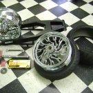 01-14 GSXR 600/750/1000 BLACK FINISH 240 KIT CHROME RC WHEELS