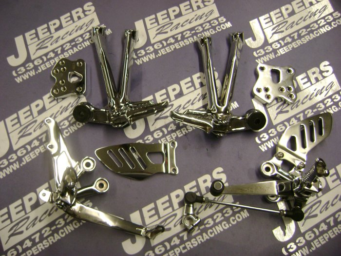 2007/08 gsxr 1000  chrome rear sets
