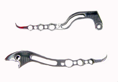 HONDA CBR600RR (03-06)CBR954 (02-03) POLISHED LEVERS SET BILLET ALUMINUM (PART # A3216/A3219)