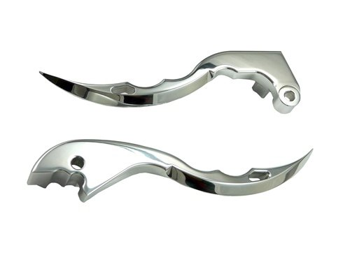 HONDA CLUTCH AND BRAKE LEVER, POLISHED BLADE STYLE CBR600RR(03-06) (PART # A4040A4041)