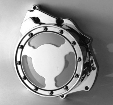 Suzuki Hayabusa Chrome See-Thru Billet Stator Cover