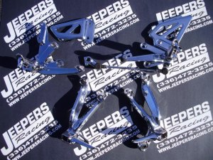 01-03 GSXR 600/750 /01-02 GSXR 1000 CHROME REAR SETS