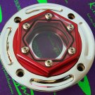 CLEAR GAS CAP ANADIZED RED