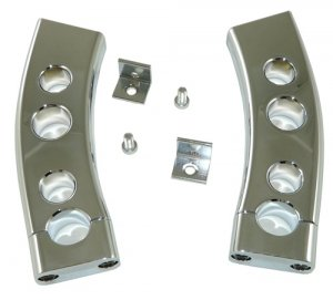 """Bar Risers for Suzuki M109, Triple Chrome with a 1"""" DROP from stock (06-10) (Product code: CA4314)"""