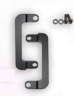 Black Anodized Front Radial Caliper Lowering Brackets