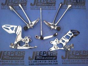 09-11 GSXR 1000 CHROME REAR SETS