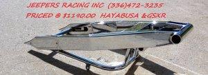 240 HAYABUSA & GSXR CHROME SWINGARM
