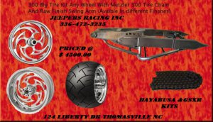 300 KIT RAW ARM AND RC WHEELS FOR HAYABUSA/GSXR