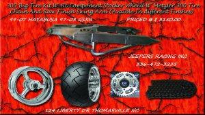 300 KIT RAW ARM WITH RC STOCKER WHEEL 08-12 HAYABUSA