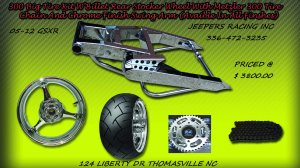 Chrome 300 Wide Tire Kits with GSXR Replica Wheel
