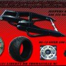 Black Powder Coated 330 Wide Tire Kits with GSXR Replica Wheel