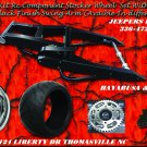 HAYABUSA/GSXR Black Powder Coated 330 Wide Tire Kits with Replica Wheel