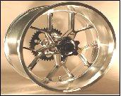 04-05 ZX 10R 240 WIDE TIRE WHEEL SET