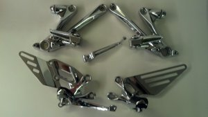 2012 ZX 14R CHROME REAR SETS (EXCHANGE ONLY)