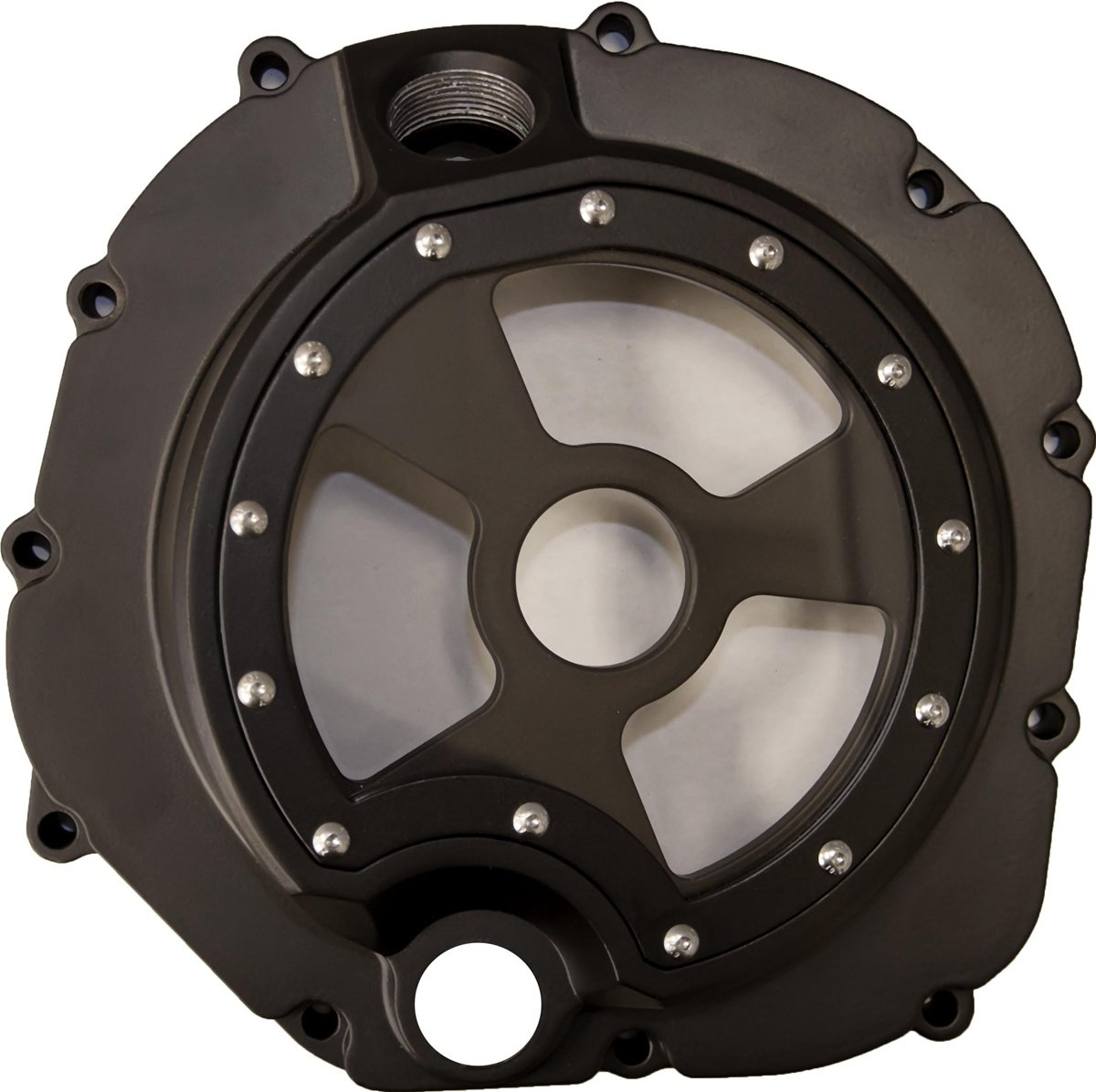 Kawasaki ZX14 (06-13) Anodized Black Clutch Cover #cck201b)